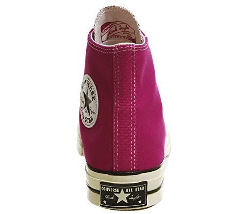 Converse Men's Chuck 70-Seasonal Hi Low-Top Sneakers, Pink Pop/Black/Egret, 11 Women / 9 Men M US