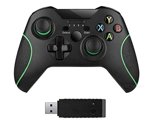 xuelili Controles sem fio para Xbox One, gamepad sem fio para PC com adaptador sem fio de 2,4 GHz, compatível com Xbox One / One S / One X / P3 Host / Windows 7/8/10