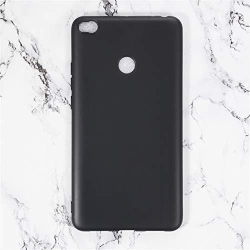 Capa para Xiaomi Mi Max 2, capa traseira de TPU macia resistente a arranhões à prova de choque de borracha de gel de silicone anti-impressões digitais Capa protetora de corpo inteiro para Xiaomi Mi Max 2 (preta)