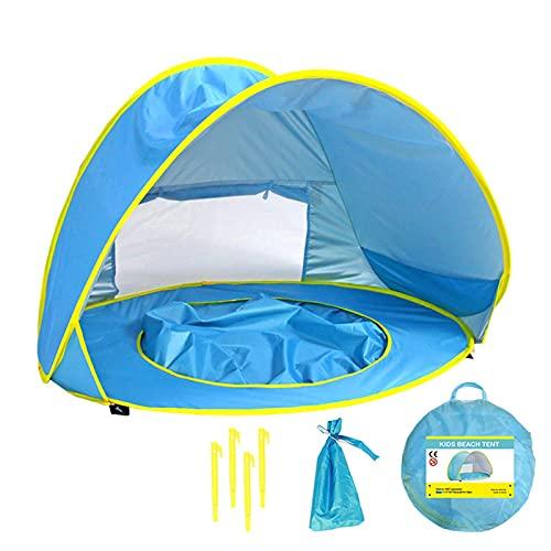 Tienda De Campaña Para La Playa Para Bebés, Protección UV Portátil, Tienda De Campaña Para El Sol Con 4 Clavijas, Toldo Para Sombra Emergente Para Adultos, Bebés, Niños, Actividades Al Libre, Camping