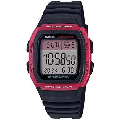 CASIO Herren Digital Quarz Uhr mit Resin Armband W-96H-4AVEF
