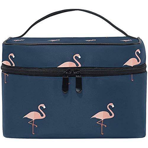 Rose Flamingo Tropic Animal Femmes Voyage Maquillage Sac Portable Cosmétique Train Case Trousse De Toilette Beauté Organisateur
