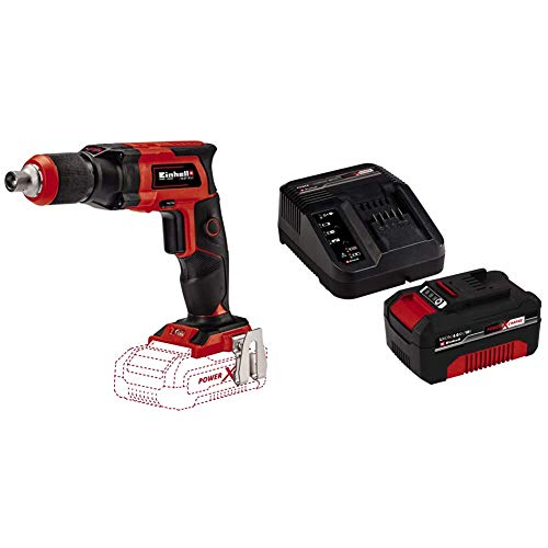 Einhell Cordless Drywall Screwdriver TE-DY 18 Li-Solo Power X-Change - Supplied with 4.0Ah Battery and Charger