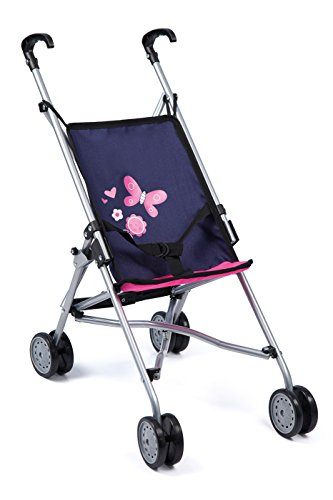 Bayer Design 3011300 3011300-Puppen Buggy, blau/pink