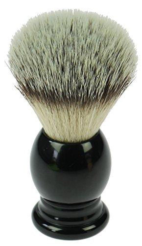 Fantasia Rasierpinsel mit Synthetik - Haar, Kunststoffgriff, schwarz, H 11 cm