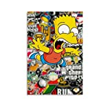 JGRD Anime-Poster Bart Simpson, HD Leinwand-Kunstdruck und