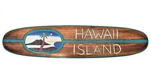 Interlifestyle Hawai Island Tabla de Surf 100cm Tiki Decoración para Colgar Lounge Estilo Islas