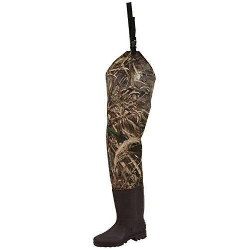 Frogg Toggs Rana II PVC Bootfoot Camo Hip Wader, Cleated Outsole, Realtree Max5, Size 10