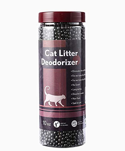 No Scent Cat Litter Deodorizer Litter Box Odor Eliminator Natural Deordizer Kitten Litter Smell Control Safe Litter Deoderizer For Kitty Solid Adsorbents Of Minerals&Activated Charcoal 10 Oz Bottle