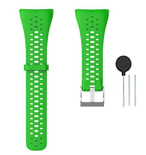 WEINISITE Armband für Polar M400, Silikon Ersatzband für Polar M400 GPS Running Watch (Grün)