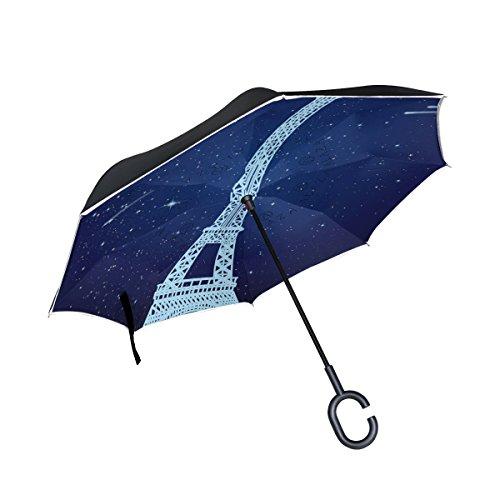 jstel doble capa puede Galaxy S i9000Meteor de la torre Eiffel paraguas...