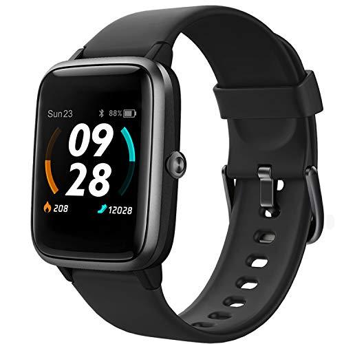 Lintelek Smartwatch de Pantalla táctil,Pulsera Actividad con Monitor de Pasos, Calorías, Sueño y Ritmo Cardíaco, Reloj Inteligente Impermeable, Reloj Deportivo Compatible con iOS y Android