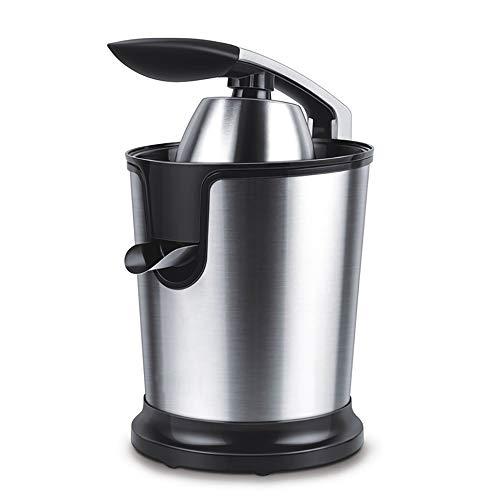 Prensa de jugo eléctrica acero inoxidable, exprimidor jugo naranja, material grado alimenticio Tapa cónica barrena Piezas extraíbles Almohadillas antideslizantes para los pies, para cítricos de cocina