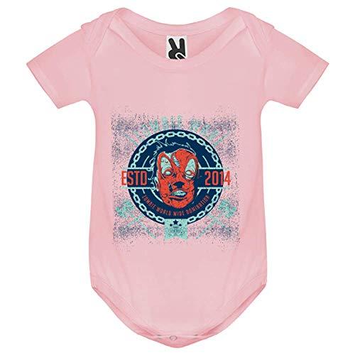 LookMyKase Body bébé - Zombie War - Bébé Fille - Rose - 6MOIS