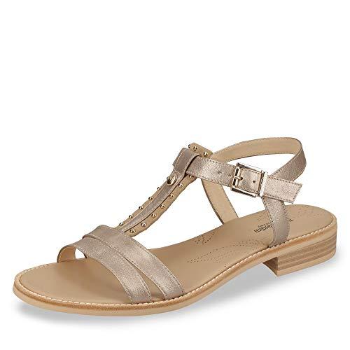 Nero Giardini P908231D/614 Sandali Scarpe Donna Fibbia Cinturino Pelle Cipria (37 EU)