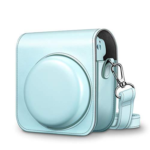 CaseBot Tasche für Fujifilm Instax Mini 11 Sofortbildkamera - Premium Kunstleder Schutzhülle Reise Kameratasche Hülle Abdeckung mit abnehmbaren Riemen, Blau