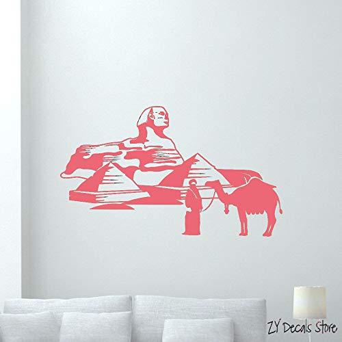 Sphinx Wandtattoo Ägyptische Pyramiden Beduinen Kamel Vinyl Aufkleber Wohnkultur Abnehmbare Kunstwand Wohnzimmer Schlafzimmer Dekor farbe-2 56x95 cm