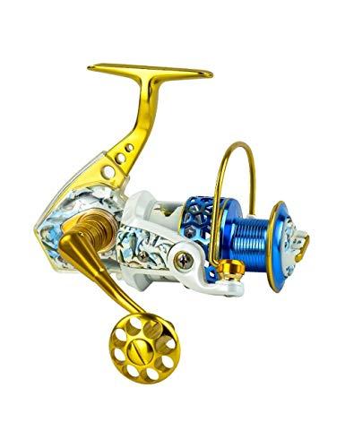 Rotatorio Carrete de Pesca, 14 1 cojinetes BB, Super Suave y Fuerte, Izquierda y Derecha Intercambiables, Muy Adecuado for la luz de la Pesca de Ultra/Hielo (Color : Gold, Size : 2000 Series)