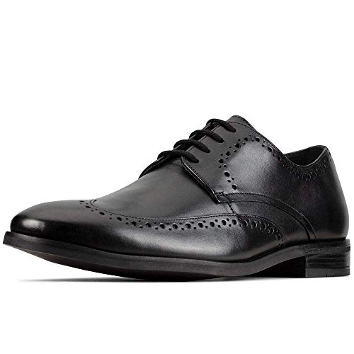 Clarks Stanford Limit, Scarpe Stringate Derby Uomo, Nero (Black Leather Black Leather), 43 EU