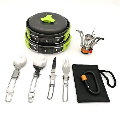 XGTsg Cocina De Camping Outdoor Camping Set Pote Portable 1-2 Persona Pot...