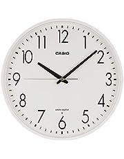 CASIO(カシオ) 掛け時計 電波 ホワイト 直径26.9cm アナログ 夜間秒針停止 IQ-1070J-7JF