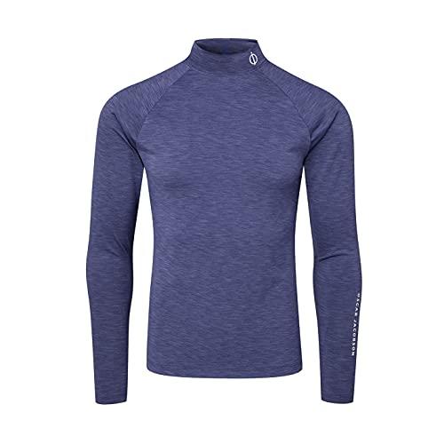 Oscar Jacobson Hombre Camiseta De Golf Capa Base Compreción Azul Marino L