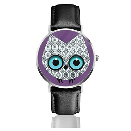 Uhren Einfache Stil Armbanduhr Fondo De Pantalla Búho Quarzuhr Lederarmband Uhr Arabische Ziffern Analoge Uhr Quarzuhr Kleideruhr Correa de Cuero PU 38mm