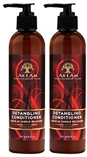 As I Am Detangling Conditioner Leave-in Tangle Releaser, 8 Ounce (2Pack) 2Pack