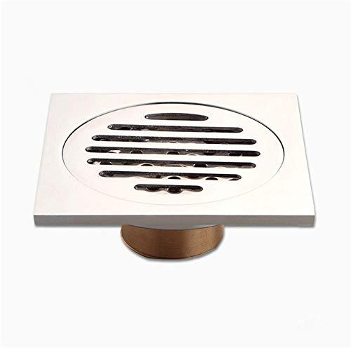 RZM - Drenaje de piso de acero inoxidable con cubierta extraíble para ducha con protectores de drenaje para rejilla de residuos para cocina plateada (color: -, tamaño: -)