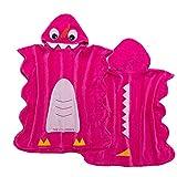 LIFEILONG Toalla de baño para niños Nueva Albornoz de algodón con Capucha y Toalla de Playa de Terciopelo Cortado Rojo 70 * 140 cm (3-8 años)