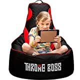 Gaming Bean Bag Chair Kids [Cover ONLY No Filling] with High Back, Fun Gaming Sofa or Low...