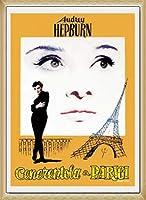 ポスター アーティスト不明 オードリー・ヘプバーン パリの恋人 額装品 ウッドベーシックフレーム(ナチュラル)