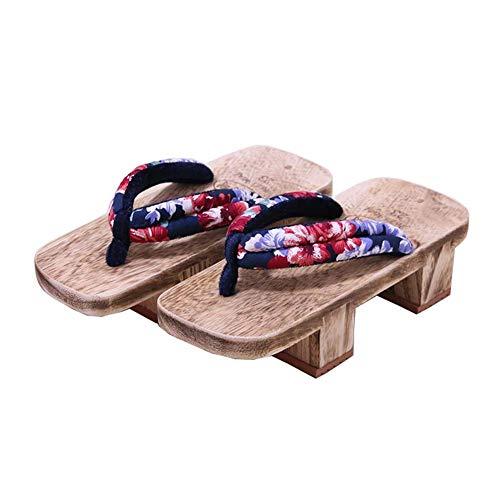 Fancy Pumpkin Zapatos tradicionales japoneses Zapatillas de cosplay Zapatillas de madera Zueco Geta Sandalias, K-03