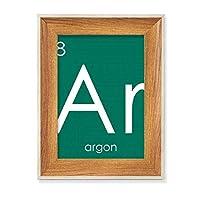 化学元素周期表希ガスアルゴンAr デスクトップ木製フォトフレームディスプレイアート絵画セット