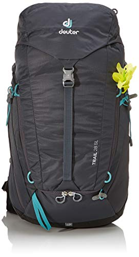 Deuter Women's Trail 28 SL Rucksack, Graphite-Black, 59 x 32 x 19 cm, 28 L