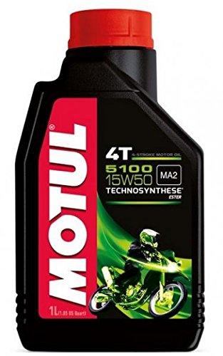 MOTUL40 - FLACONE 1 LITRO OLIO MOTUL 5100 4T 15W50 TECHNOSYNTHESE 100% SINTENTICO PER MOTORI 4T