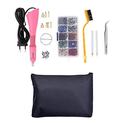 sharprepublic Kit di Strumenti dell'Applicatore Diamante d'Imitazione Pistola Termica per Crystal Gems Penna Termica per Estrás - Rosa
