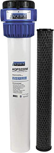 Aquios WellPlus Salt Free Water Softener & Filter System - Remove & Prevents Limescale - Prevents Iron Stain - High Flow Carbon Infused Pleated Design - Removes Rust, Sediment, Dirt, 3/4' Brass Ports