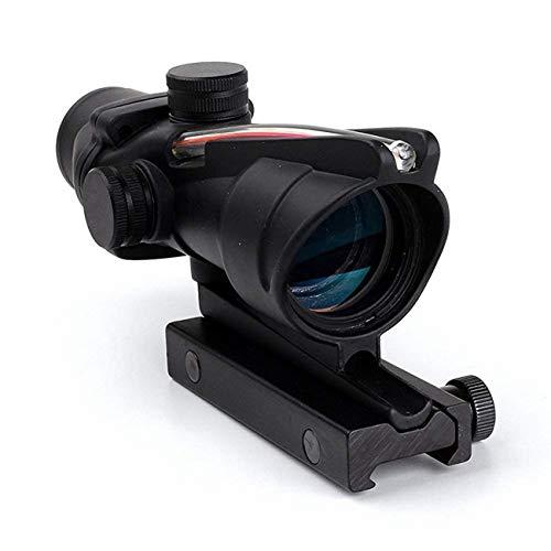 wipboten Rifle Scope 4x32 Scope True Fiber Crosshair Reticle Riflescope Optical Sights Black