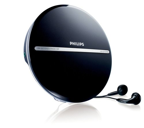 Philips EXP2546 tragbarer MP3-CD Player (100 Sekunden ESP, Dynamic Bass Boost) schwarz
