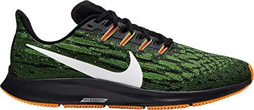 Nike Men's Air Zoom Pegasus 36 Black/White/Green Kumquat Wild Run Running Shoes Size 11.5
