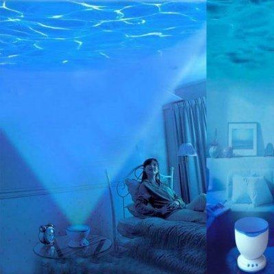 Fly-shop-Proyector Lámpara oceano con Altavoces de MP3 Proyección del mar sonido de olas relajante Ocean Relax Proyector