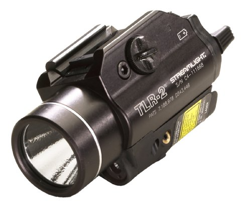Streamlight 69120 TLR2 C4 LED Rail Mounted Weapon Flashlight with Laser Sight Black  300 Lumens