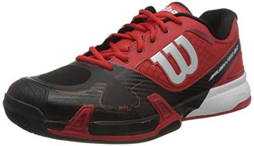 Wilson Unisex Rush Pro 2.0 Clay Court Tennisschuhe, Rot, Schwarz, Weiß, 37.5 EU