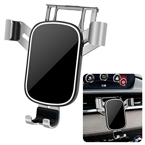 LUNQIN Car Phone Holder for 2018-2020 Mazda 6 [Big Phones with Case Friendly] Auto Accessories Navigation Bracket Interior Decoration Mobile Cell Mirror Phone Mount Iowa