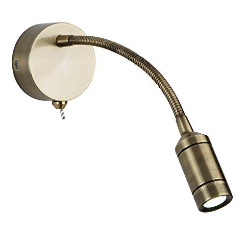 Applique/liseuse LED, laiton antique