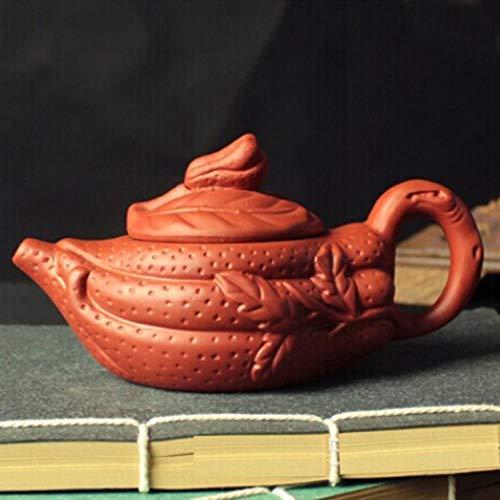 LinZX Conjunto de vasijas de Barro Decorativas Tetera de té de bergamota Establece cerámica Kung fu Tetera de la Mano