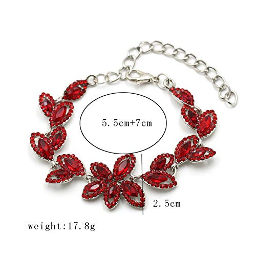 guodong European and American Bracelets Fashion Jewelry Hand Ring Accessories Trend All-Match Female Street Shoot Leaf-Shaped Accessories