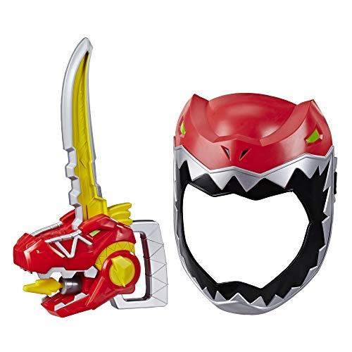 Power Rangers Playskool Heroes Zord Saber, Red Ranger Roleplay Mask with Sword Accessory, Dino Charge Inspired Toy for Kids Ages 3 and Up