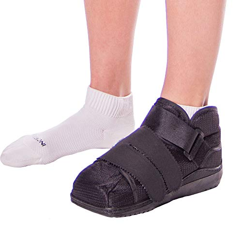 BraceAbility Closed Toe Medical Walking Shoe - Lightweight Surgical Foot Protection Cast Boot with Adjustable Straps, Orthopedic Fracture Support, and Post Bunion or Hammertoe Surgery Brace (L)